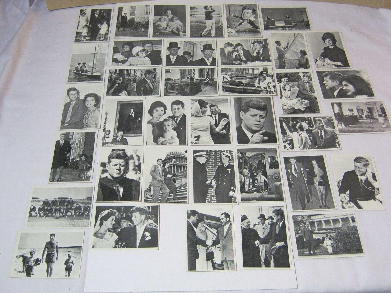 John F. Kennedy Topps JFK Trading Cards Lot of 37 1960's Vintage  T