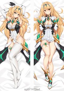 Xenoblade Chronicles 2 Mythra Cosplay Dakimakura Pillow Case Hugging Body Otaku