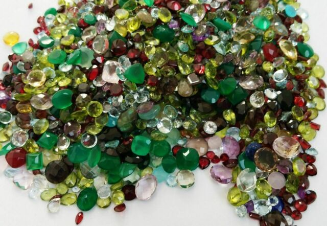 LOOSE FACETED & CABS NATURAL GEMSTONES MIXED GEMS WHOLESALE GEM MIX  GEMSTONE LOT