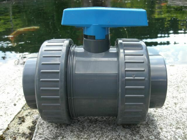 75 mm PVC Ball Valve Stopcock with Cement Socket Koi Pond
