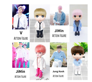 Kpop BTS RM Jin Suga JHope Jimin V Jungkook lastic Dressing Doll Toy  BANGTAN