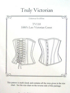 Sewing-Pattern-Truly-Victorian-TV110-Late-Victorian-Corset-multi-sized-uncut-new