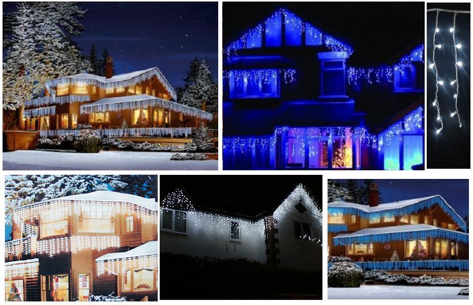 Vorhang 70 LED blau Mt.1 Profi für Verwendung außen IP44 erweiterbar Max mt.50 | Schöne Kunst  | Bestellung willkommen