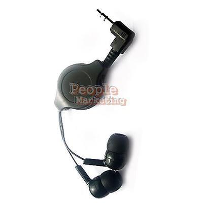 New Black Retractable In-Ear Earbud Earphone Headphone for Mp3 Mp4 iPod #P