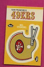 1984 SAN FRANCISCO 49ERS  NFL FOOTBALL STICKERS SHEDULE NRMT CARD (INV# A1423)