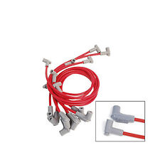 MSD 8.5mm Super Conductor SBC SprintCar Tight Fit Spark Plug Wire Set 31549 Red