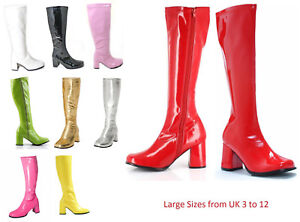 Womens-Drag-Queen-Fancy-Dress-Party-Funky-GOGO-Boots-1960-1970-Style-UK-3-to-12