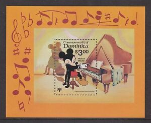 Dominica-estampillada-sin-montar-o-nunca-montada-SELLO-HOJA-Disney-Mickey-Mouse-1979-ano-Del-Nino