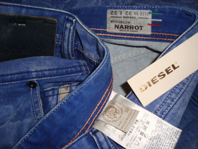 NWT DIESEL NARred DNA Carred Made in ITALY W-0812W Men's Cropped Jeans Sz 32