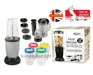 MULTI-17PC-BULLET-BLENDER-JUICER-SMOOTHIE-MAKER-MIXER-CHOPPER-FOOD-PROCESSOR-SLV
