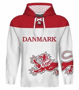 NEW 2019 Team Denmark Danmark Hockey Hoodie NHL Nielsen Eller Hansen ... 3f0791b7e