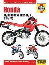 Repair Manual Haynes 2182 for Honda Motorcycle XL/XR600R XR650L/R 83-14 320 Page