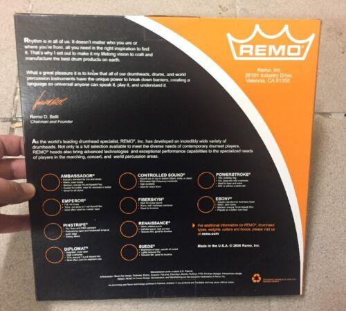 """NEUF @ VINTAGE @ PEAU BATTERIE @ DRUM HEAD @ REMO EMPEROR COATED BATTER @ 10/"""" N1"""