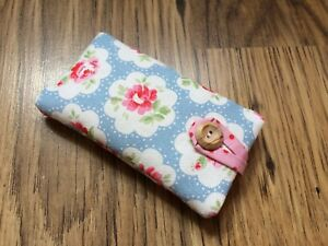 best website 99a85 a61aa Details about HANDMADE IPHONE 8 / 8 PLUS PADDED CASE - CATH KIDSTON BLUE  PROVENCE ROSE FABRIC