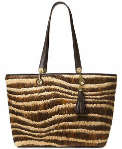 76c23059e096 MICHAEL KORS NWT $448 Malibu Extra-Large Shoulder-Bag Tote Raffia ...