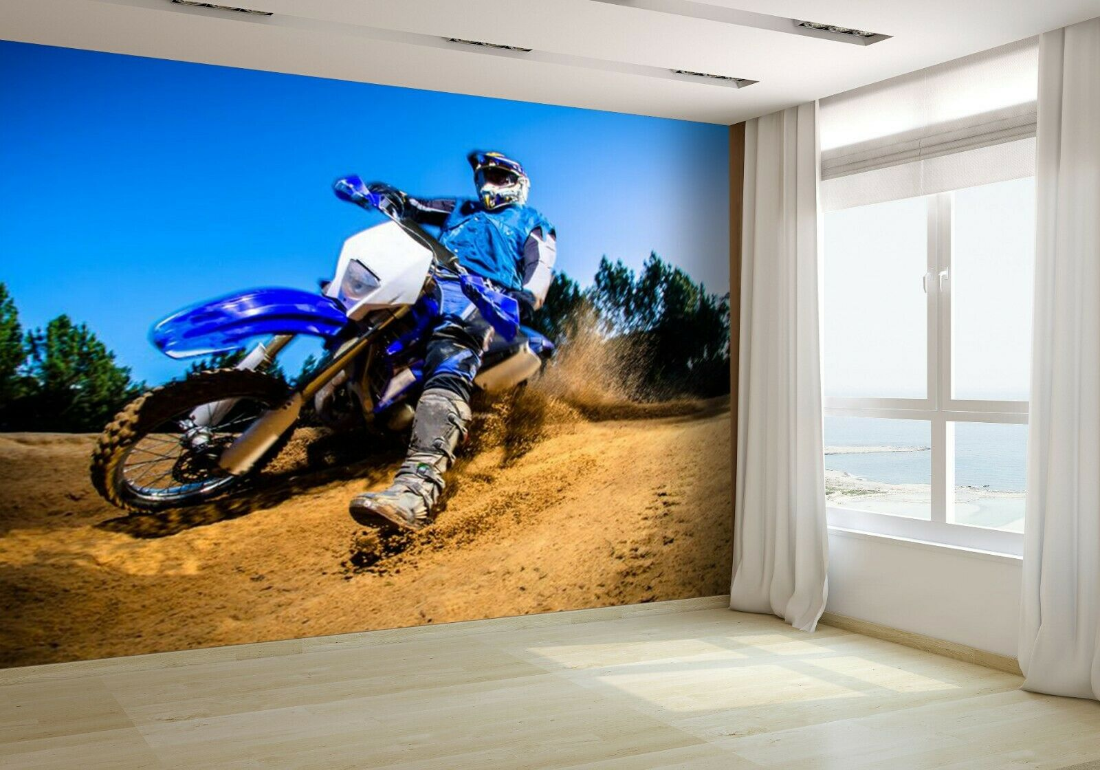 Enduro Bike Rider on Action Wallpaper Mural Photo 16711228 budget paper