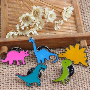 UK-5Pcs-Unisex-Cute-Cartoon-Dinosaur-Animal-Brooch-Pin-Badge-Jewelry-Decor-Drea
