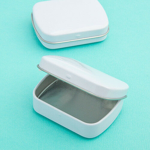 60-200 Perfectly Plain Weiß Rectangle Mint Tins  DIY Wedding Shower Party Favor