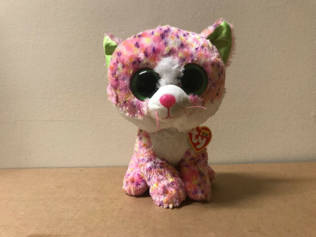 6e2e3b150f0 Ty Beanie Baby Ty37054 Plush Boo  Sophie The Cat Small Medium Pink ...