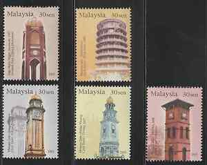 302-MALAYSIA-2003-HISTORICAL-BUILDINGS-CLOCK-TOWERS-SET-FRESH-MNH