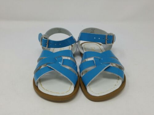 Salt Water Girls Shiny Turquoise Original Sandals Size 10 Toddler US
