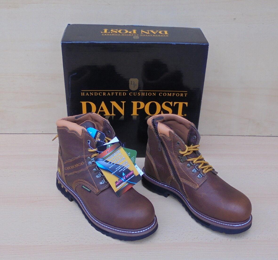 """DAN POST Gripper Zipper ST Cowboy Stiefel  """"10 D"""" Leder Arbeitsschuhe DP66484"""