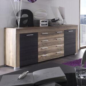 Sideboard Boom Kommode In Nussbaum Satin Und Braun Touchwood Ebay