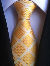 (NT162)100% Silk Sunflower Yellow Men Necktie Wedding Office Business Party Tie