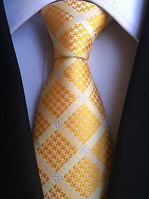 (nt162) 100% Seta Giallo Girasole Uomo Cravatta Matrimonio Ufficio Business Partito Tie-mostra Il Titolo Originale