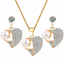 Women-Heart-Pendant-Choker-Chain-Crystal-Rhinestone-Necklace-Earring-Jewelry-Set thumbnail 8