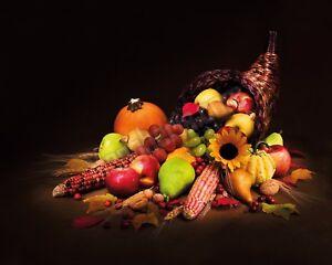 Quadro-legno-50-x-40-cm-stampa-in-alta-qualita-natura-morta-frutta-e-fiori