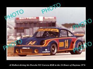 OLD-MOTOR-RACING-PHOTO-AL-HOLBERT-DRIVING-HIS-PORSCHE-911-CARRERA-DAYTONA-1976