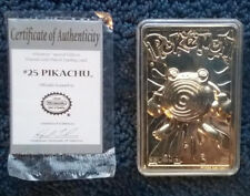 Limited Edition Red 23k Gold Plated Pikachu 25 Trading Card