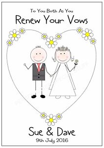 Image Is Loading Renew Wedding Vows Personalised Card Congratulations Any Names