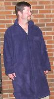 Nightshirt Red And Navy Fleece Soft And Comfy 'made In Usa' Men
