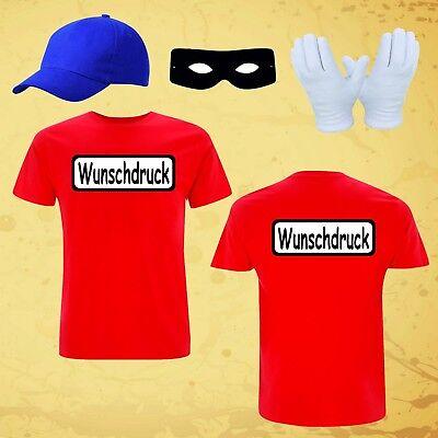 T-Shirt Kostüm für Panzerknacker Fans Gruppenkostüm Karneval Fasching bis gr.6XL