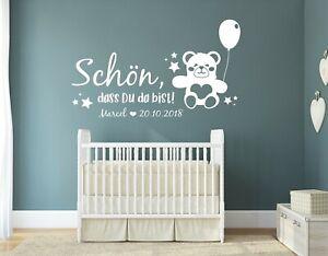 Wandtattoo Kinderzimmer Name Wandaufkleber Baby Name Babyzimmer Junge Pkm498 Ebay