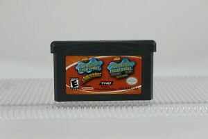 Double-Pack-Spongebob-Squarepants-Supersponge-Flying-Dutchman-Game-Boy-Advance