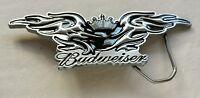 Budweiser Beer Crown Winged Black Colored Bird Eagle Belt Buckle