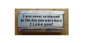 9mm-Italian-Charms-L33-Son-Daughter-I-was-never-so-blessed-Fits-Classic-Size