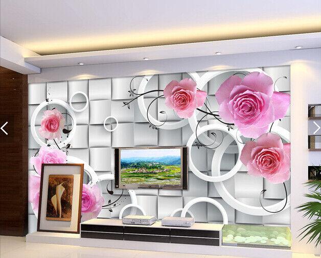 3D Lattices Circles 7 Wall Paper Murals Wall Print Wall Wallpaper Mural AU Lemon