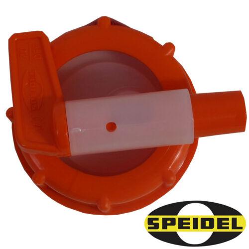 Auslaufhahn SPEIDEL Ø15mm für Mostfass Getränkefass NEU Fass-Hahn 50mm Anschluss