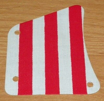 3 Holes Lego Cloth Sail 9 x 11 White with Red Stripes Pattern