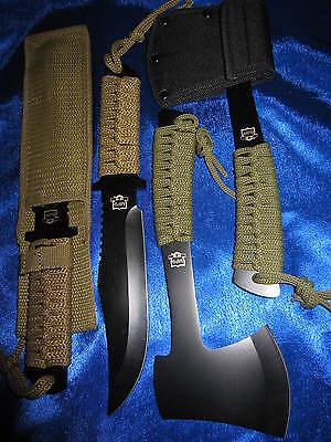 Messer und Axt mit Holster Buschmesser Gürtelmesser Jagdmesser Machete