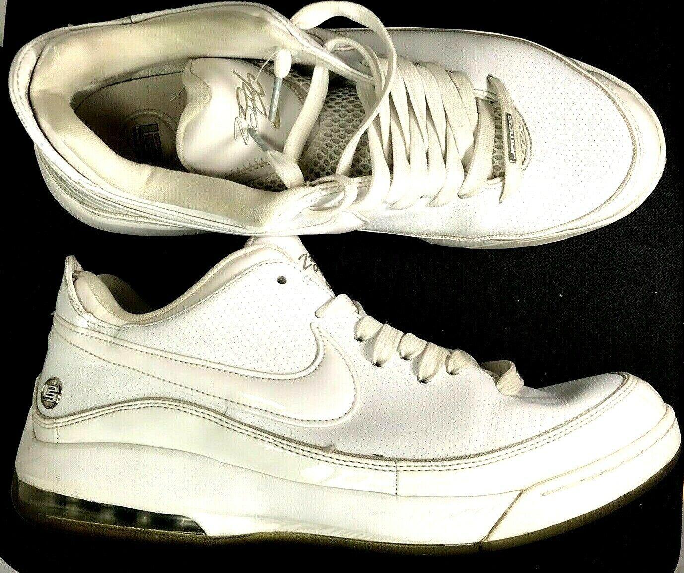 Nike Air Max Lebron James VII Low 09' Mens White Sneaker shoes Sz 13 395717-102
