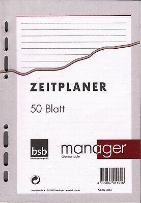 Ringbucheinlage A7 liniert 50 Blatt 6-fach-Lochung Notizen