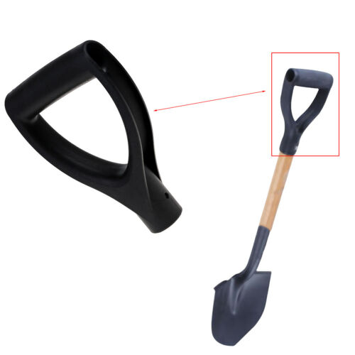 U type Black Plastic Snow Shovel Replacement D Grip Spade Top Handle Garden FO