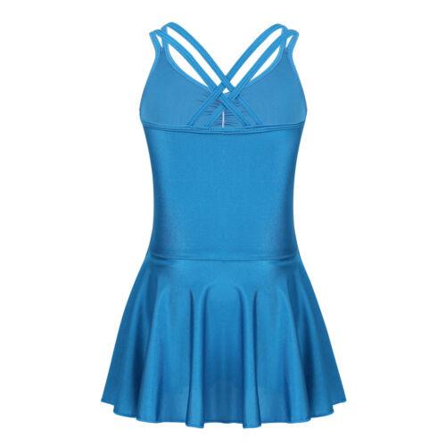 Kids Girl Ballet Dress Dance Wear Leotard Tutu Skirt Gymnastics Athletic Costume