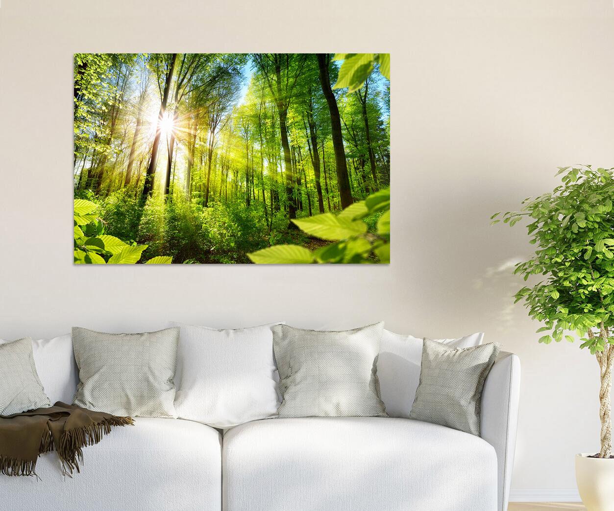 3D Sunny green Bäume Sträucher 9 Fototapeten Wandbild BildTapete AJSTORE DE Lemon