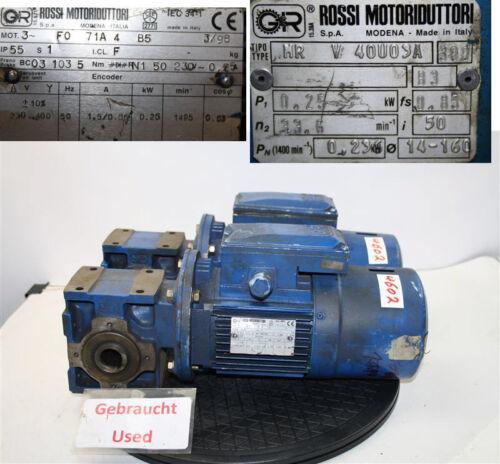 Rossi 0,25 kw  28 min getriebemotor MR V 40U03A